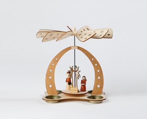 Tischpyramide dėl vier Teelichte Chris...
