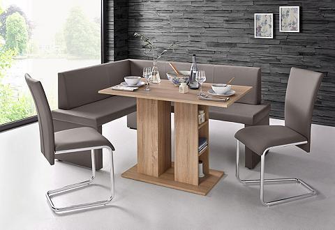 HOMEXPERTS Kampinis virtuvės suolas su kėdėmis (4...