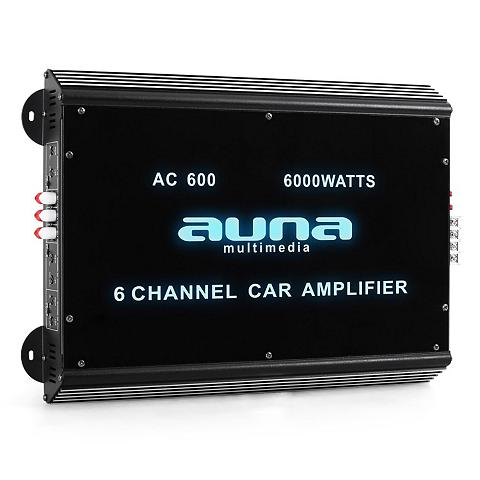 Auna 6 Kanal Auto Endstufe Car stiprintuvas...
