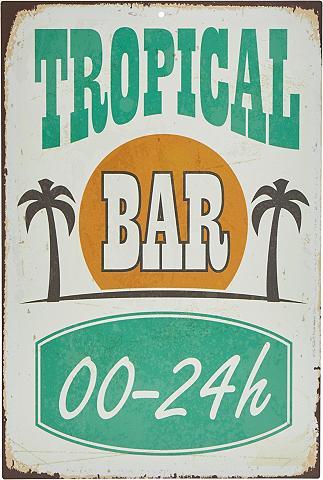 HOME AFFAIRE Metallschild »Tropical Bar«