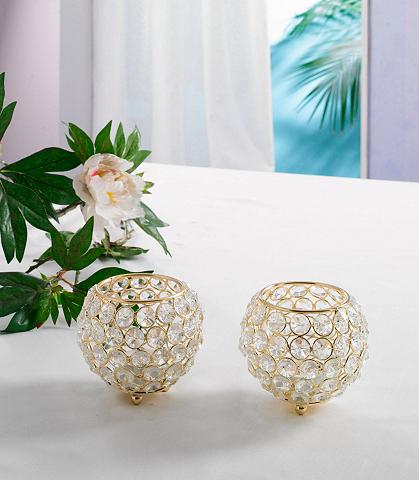 HOME AFFAIRE Žvakidė »Kristall« (2 vnt. rinkinys)