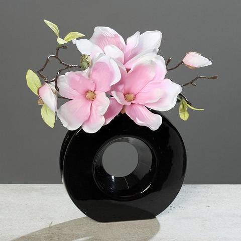 HOME AFFAIRE Dirbtinis augalas »Magnolie in schwarz...
