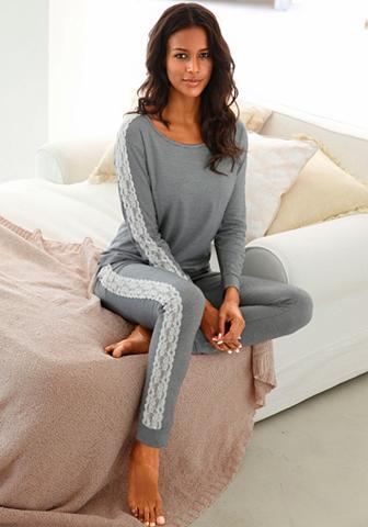 Pižama su šoninis Streifen iš nėrinių