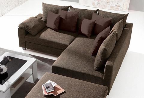 CASA ROSSA Kampinė sofa patogi su miegojimo funkc...