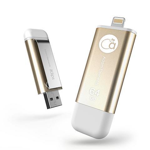 USB raktas »IKLIPS LIGHTNING 64GB Gold...