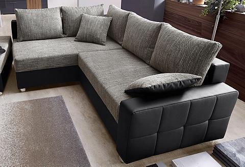 Kampinė sofa su miegojimo funkcija ir ...