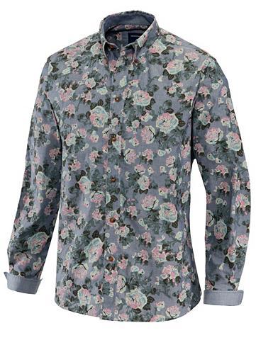 Džinsiniai marškinėliai su gėlėtas Dru...
