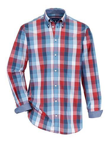 Marškiniai su Button-Down-Kragen