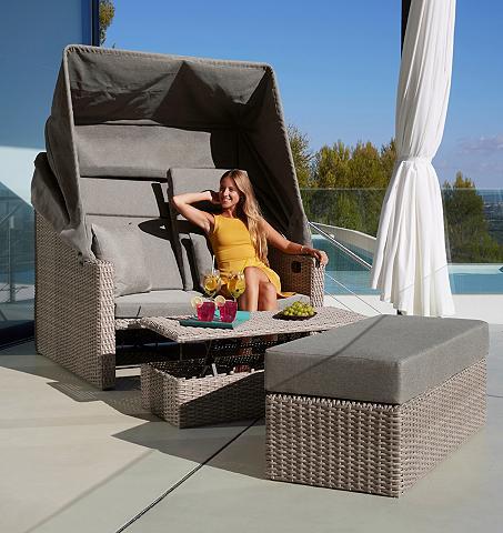 MERXX Sodo sofa-lova »Rimini« Polyrattan bra...