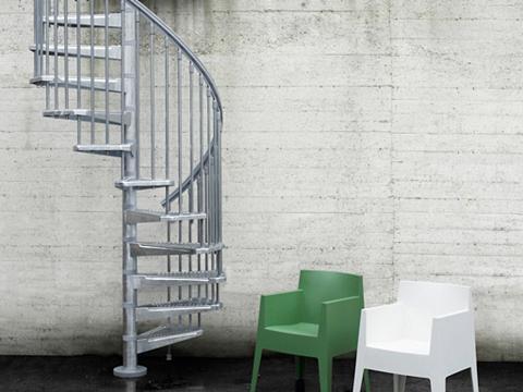 Lauko laiptai »Steel Zink« Ø: 140 cm g...