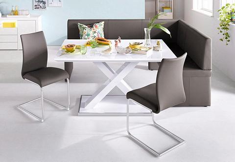 Homexperts Kampinis virtuvės suolas su kėdėmis (S...