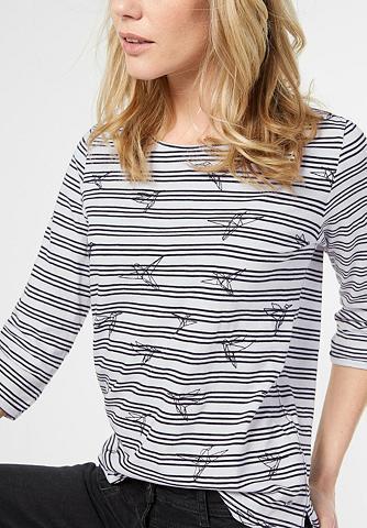 Dryžuoti marškinėliai su raštas