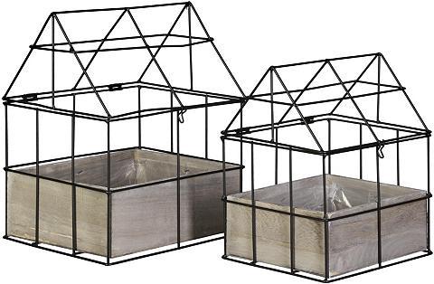 Metalas Šiltnamis su Medinė dėžutė (2 ...