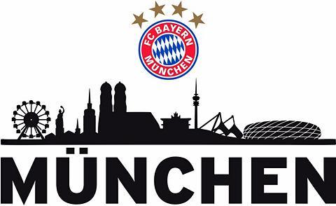 Sienos lipdukai »FC Bayern Skyline« in...