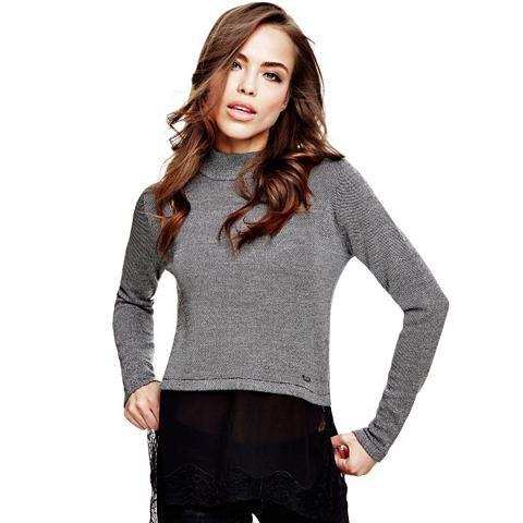 Sportinio stiliaus megztinis su nėrini...