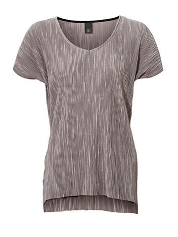 Plissee-Shirt su blizgesys