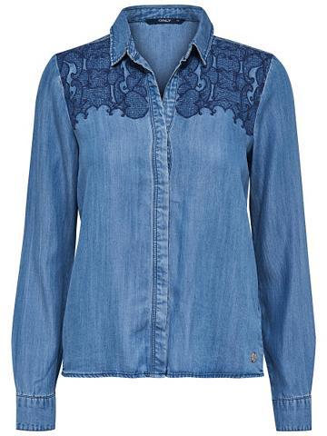 Smulkus mezgimas džinsiniai marškinėli...