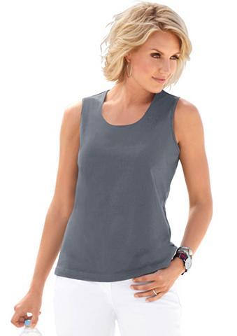 Marškinėliai be rankovių su apvalia iš...
