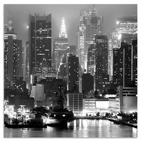 INOSIGN Metalinis paveikslas »New York by nigh...