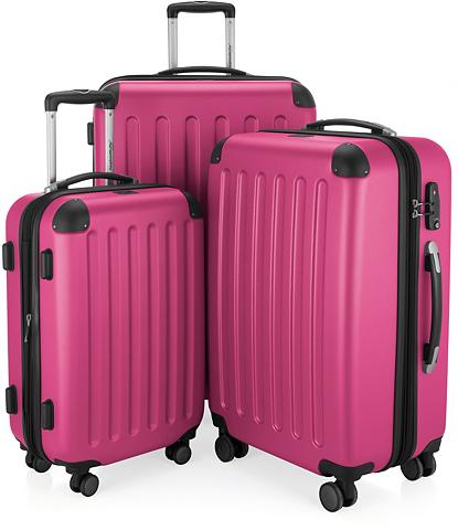 Plastikinių lagaminų komplektas su 4 r...