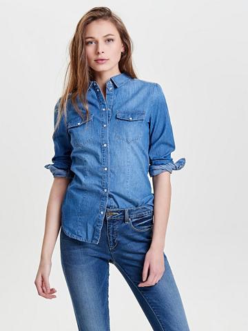 Vienspalvis džinsiniai marškinėliai