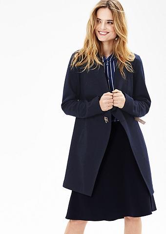 Vilnonis paltas su Leder-Look-Schlie