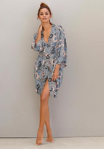 Kimono su Allover-Blumenprint