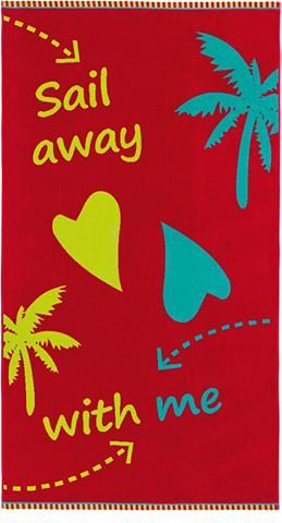 Paplūdimio rankšluostis »Sail Away« su...