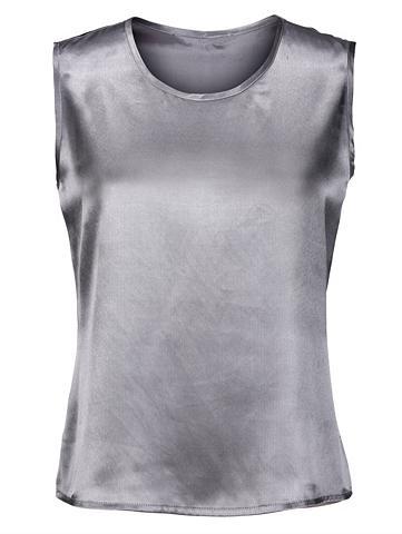 MONA Marškinėliai be rankovių iš atlasas
