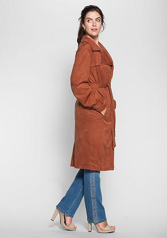 SHEEGO STYLE Dirbtinės odos paltas