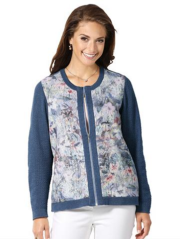 Megztinis su gėlėtas raštas