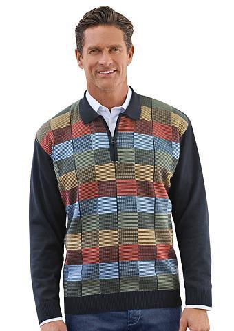 Polo megztinis su siauras Strickkragen...