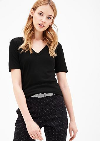 Marškinėliai su Layer-Ausschnitt