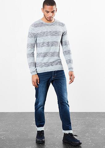 Lengvas Dryžuotas megztinis