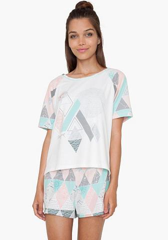 Trumpas marškinėliai su gemusterten Ra...