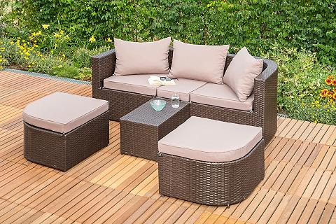 MERXX Sodo sofa-lova »Madeira« Polyrattan br...