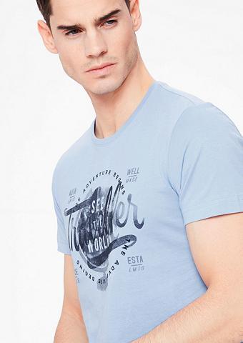 Marškinėliai su raštas priekyje