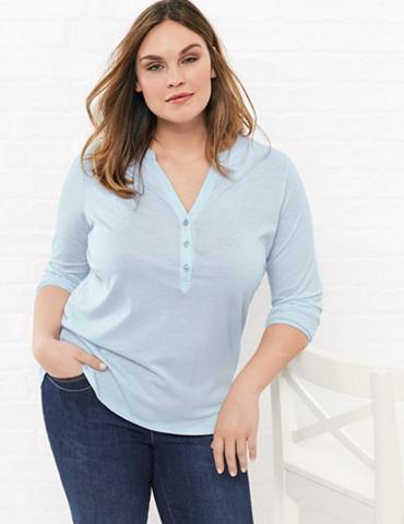Marškinėliai 3/4 rankovės apvalia iški...