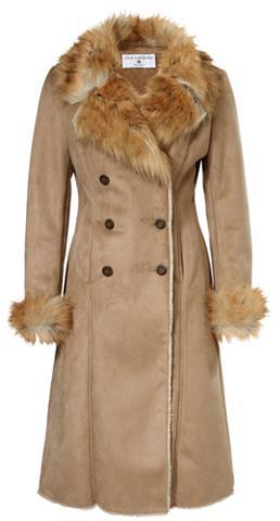 Dirbtinės odos paltas su Fellimitat-Kr...