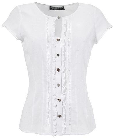 COUNTRY LINE Marškinėliai Moterims su klostės