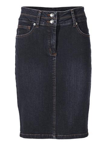 Džinsinis pieštuko formos sijonas su P...