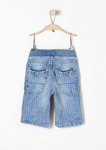 Pelle: 3/4 ilgio džinsai su Struktur d...