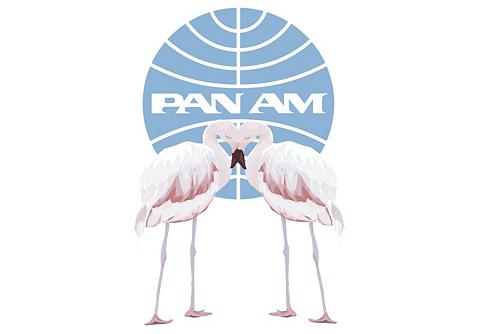 Sienos lipdukai »PAN AM-Flamingos« 40/...