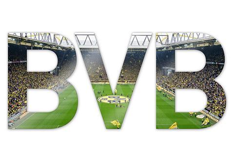 Acrylbuchstaben »BVB« 44/18 cm su 3D-E...