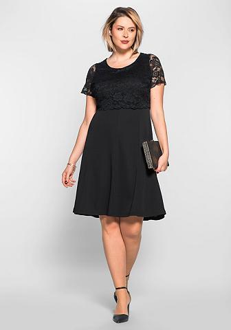 ANNA SCHOLZ FOR SHEEGO Nėriniuota suknelė