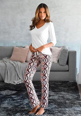 LASCANA Pižama su kelnės im Ethno-Design