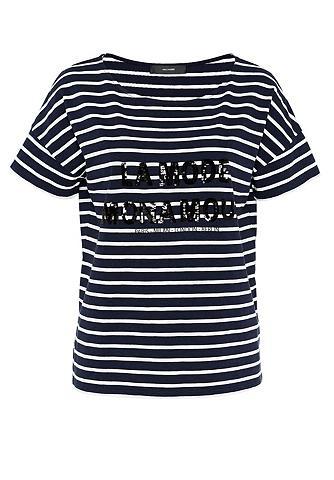 Dryžuoti marškinėliai su Statement iš ...