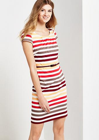 Sommerliches satininė suknelė su spalv...