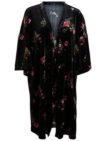 Blumiger Velours- kimono
