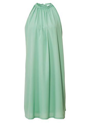 Suknelė rišama per kaklą su papuošimu
